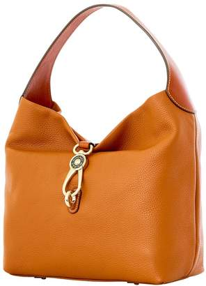 Dooney & Bourke Pebble Grain Logo Lock Shoulder Bag