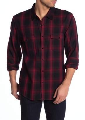 7 For All Mankind Western Plaid Flannel Trim Fit Shirt