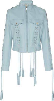 Elie Saab Braided Leather Jacket