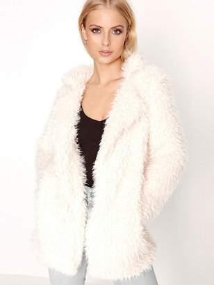 Girls On Film Cream Teddy Faux Fur Coat