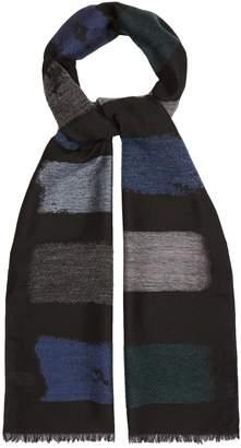 Paul Smith Colour-block knit scarf