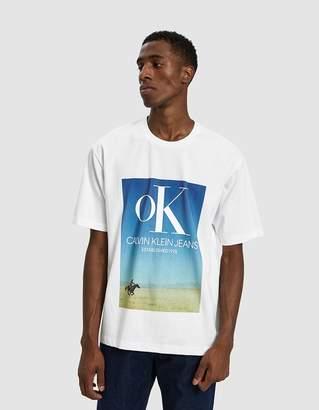 Calvin Klein Jeans Est. 1978 Ok Logo Landscape Print Tee