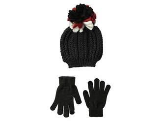 Steve Madden Chunky Pom Pom Hat with Etouch Glove Set