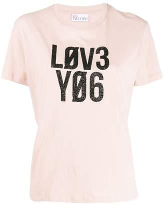 RED Valentino slogan print T-shirt