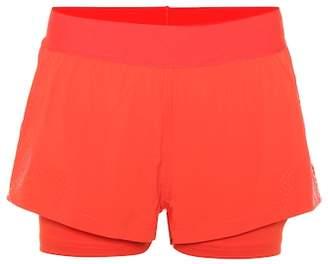 adidas by Stella McCartney Double layer running shorts