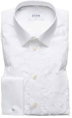 Eton Men's Slim-Fit Floral-Pattern Dress Shirt