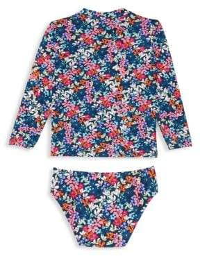 Shoshanna Little Girl's & Girl's Two-Piece Floral Rashguard & Swim Bottom Set