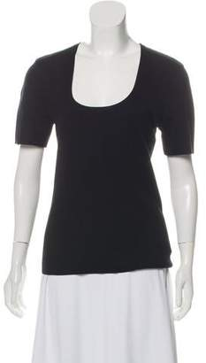 Michael Kors Cashmere Scoop Neck Top