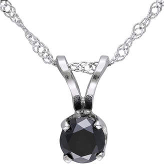 Black Diamond FINE JEWELRY 1/3 CT. T.W. Round Color-Enhanced Pendant Necklace