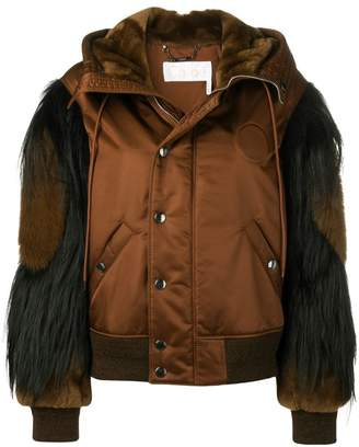 Chloé padded leather jacket