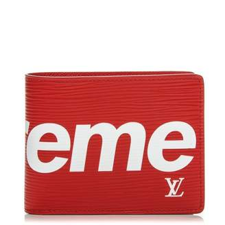 Louis Vuitton x Supreme Slender Wallet Epi Red
