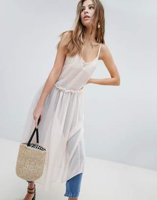 Oh My Love Oh Mylove Sheer Midaxi Dress