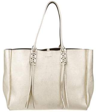 Lanvin Metallic Small Shopper Tote
