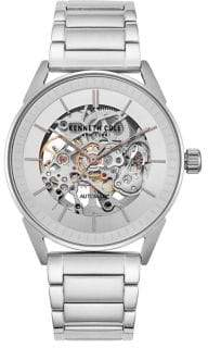 Kenneth Cole Automatic Skeleton Stainless Steel Bracelet Watch