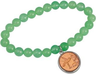 American Coin Treasures Hummingbird Coin Aventurine Bracelet