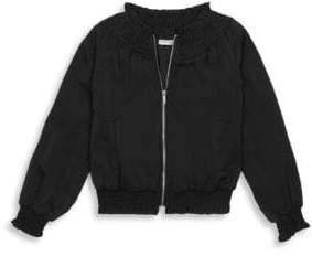 Habitual Girl Girl's Smocked Satin Jacket
