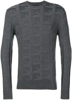 Emporio Armani logo knit sweater