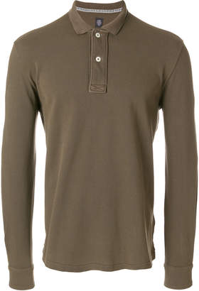 Eleventy long-sleeve polo shirt