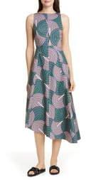 La DoubleJ Pina Asymmetrical Hem Midi Dress