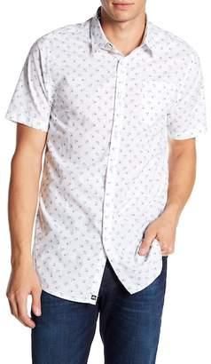 Micros Hiroko Short Sleeve Printed Woven Shirt