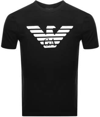 Giorgio Armani Emporio Crew Neck Logo T Shirt Black