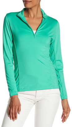 Peter Millar Long Sleeve Mesh Zip Pullover Jacket $79.50 thestylecure.com