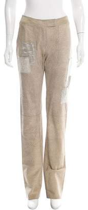 Ungaro Leather Patchwork Pants w/ Tags
