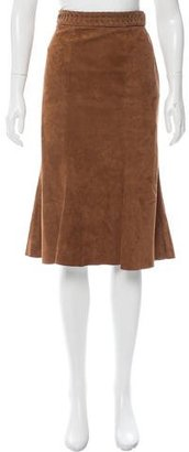 Ralph Lauren Suede Knee-Length Skirt
