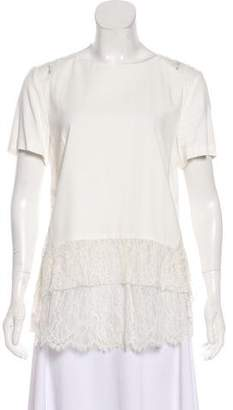 Thakoon Lace Short Sleeve Top