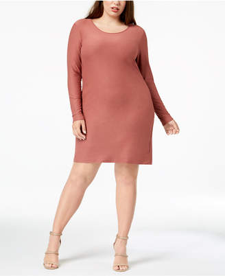 Planet Gold Trendy Plus Size Lace-Up Bodycon Dress