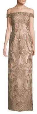Aidan Mattox Beaded Lace Gown