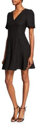 Kate Spade paneled crepe A-line dress