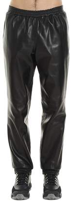 Burberry Elasticated Waistband Leather Sweatpants