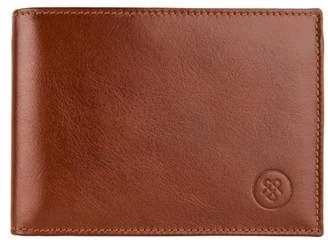 Maxwell Scott Bags Full Grain Tan Leather Tri Fold Credit Card Wallet