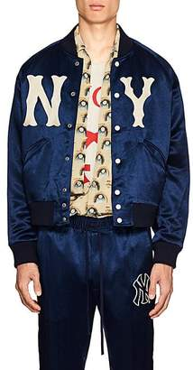 Gucci Men's NY YankeesTM Satin-Twill Bomber Jacket - Blue