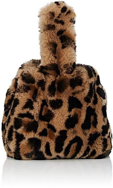 Barneys New York Women's Rabbit Fur Wristlet Bucket Bag