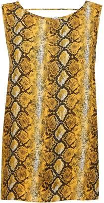 Dorothy Perkins Womens Yellow Snake Print Top