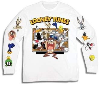622d92b0ce2e03 Looney Tunes Movies & TV Men's Taz Bugs Marvin The Martian Long Sleeve  Graphic Tee with