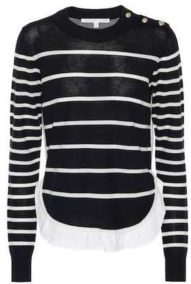 Veronica Beard Ollie striped wool sweater
