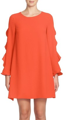 Women's Cece Ivy Ruffle Sleeve Shift Dress $138 thestylecure.com