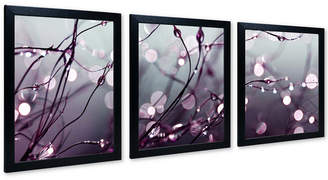 "Trademark Global Beata Czyzowska Young 'Somewhere Over the Rainbow' 56"" x 22"" Multi-Frame 3-Panel Art Print Set"