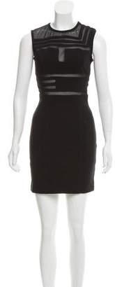 Kimberly Ovitz Mesh-Accented Mini Dress