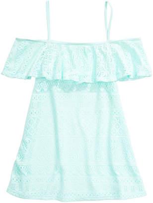Summer Crush Big Girls Cold-Shoulder Cover-Up Dress