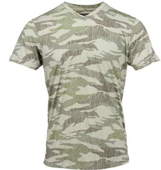 Lords of Harlech - Maze Tee In Olive Scribble Camo