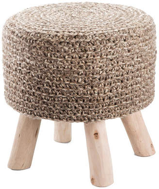 Macy's Jaipur Living Montana Knitted Taupe Stool
