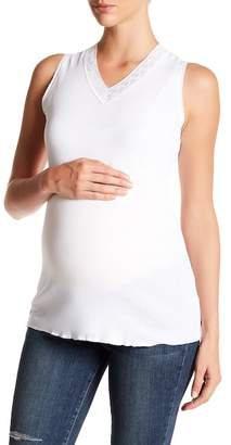 Michael Stars Lace V-Neck Tank Top (Maternity)