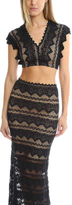 Nightcap Clothing Sierra Lace Crop Top