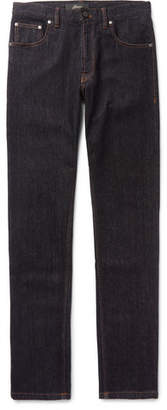 Brioni Slim-Fit Stretch Cotton And Cashmere-Blend Denim Jeans