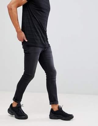 Mennace Black Skinny Relaxed Jeans