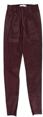 Robert Rodriguez Leather Mid-Rise Legging